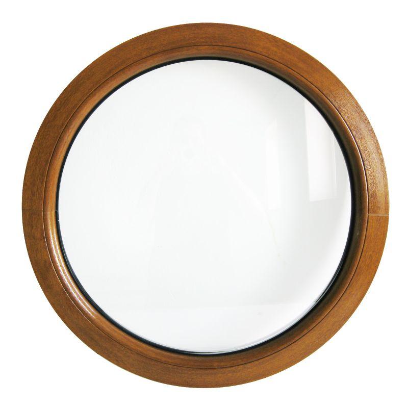 fen tre ronde fixe ch ne dor 50 55 60 70 80 90 100 110 120 cm oeil de boeuf pvc ebay. Black Bedroom Furniture Sets. Home Design Ideas