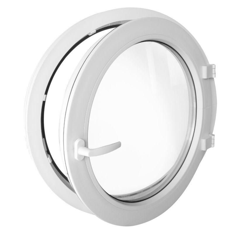 oeil de boeuf la fran aise blanc 55cm 60cm 70cm 80cm 90cm 100cm fen tre ronde ebay. Black Bedroom Furniture Sets. Home Design Ideas